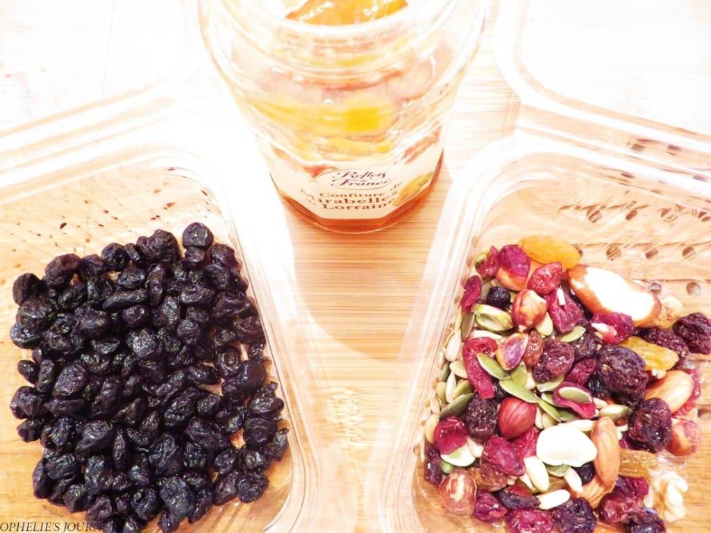 Fruits secs confiture