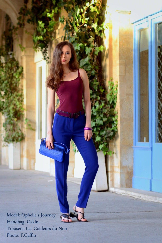 Pantalon bleu roi pour une rentr e haute en couleurs - Quelle couleur avec pantalon bleu marine ...