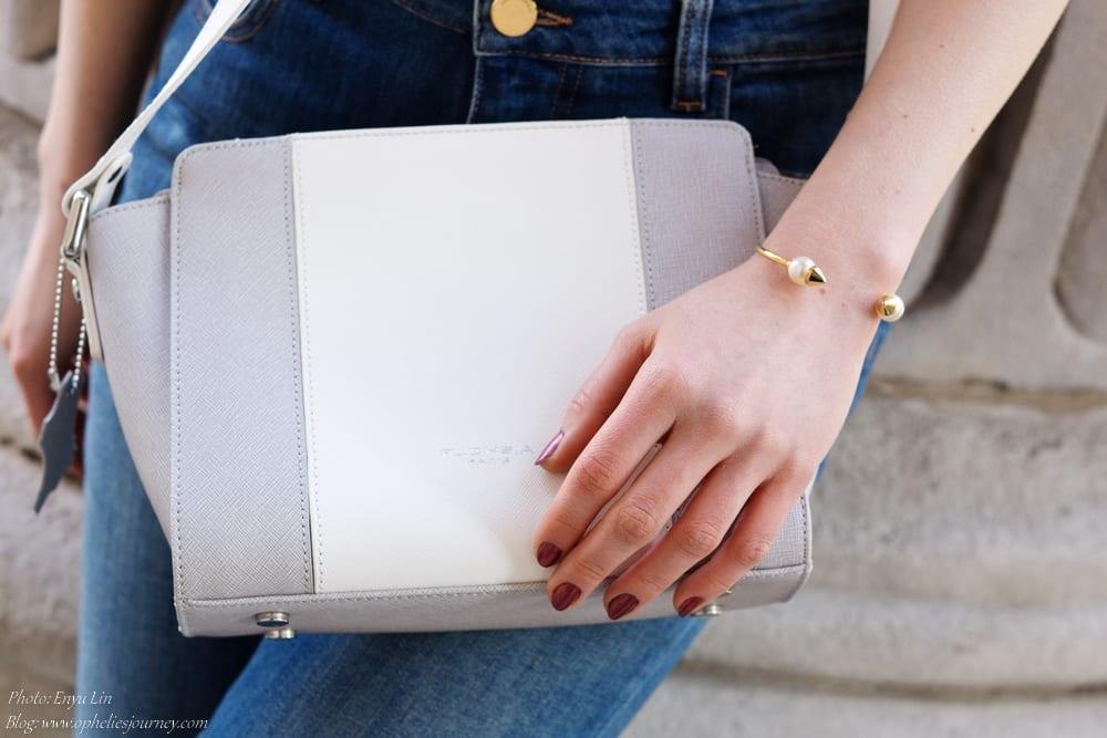 sac en cuir blanc